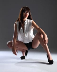 Woman squatting is a hot sex position for men
